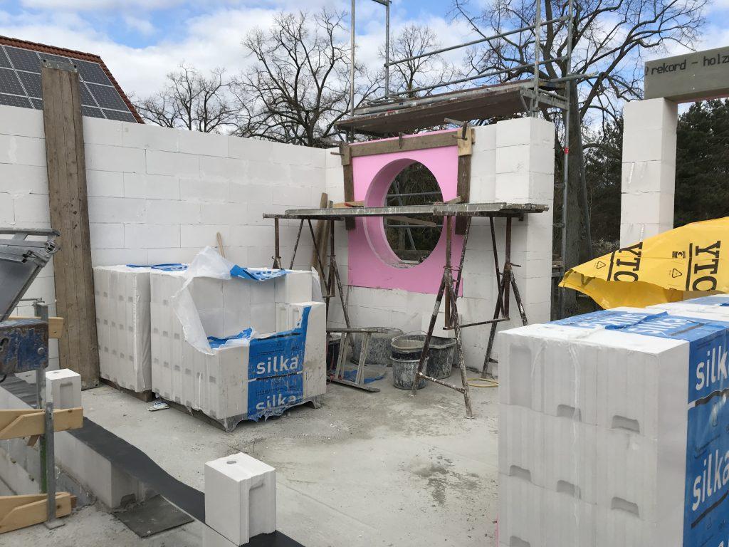 Zukünftiges Badezimmer im Rohbau