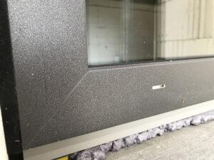 Fensterfolierung DB703 Eisenglimmer grau Detailaufnahme