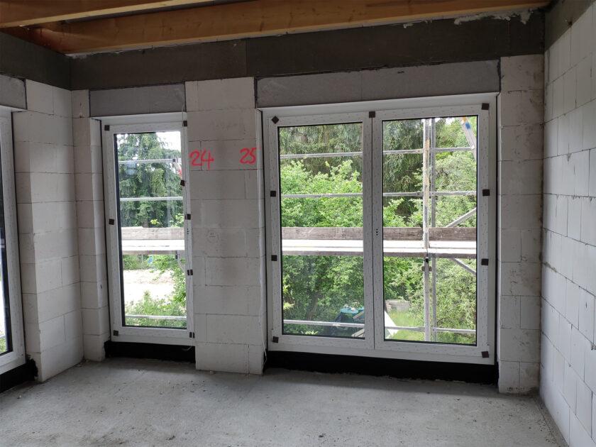Bodentiefe Fenster Ausblick erster Stock