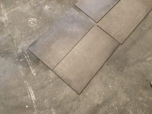 Bodenfliesen mit Betonoptik in 30x60cm