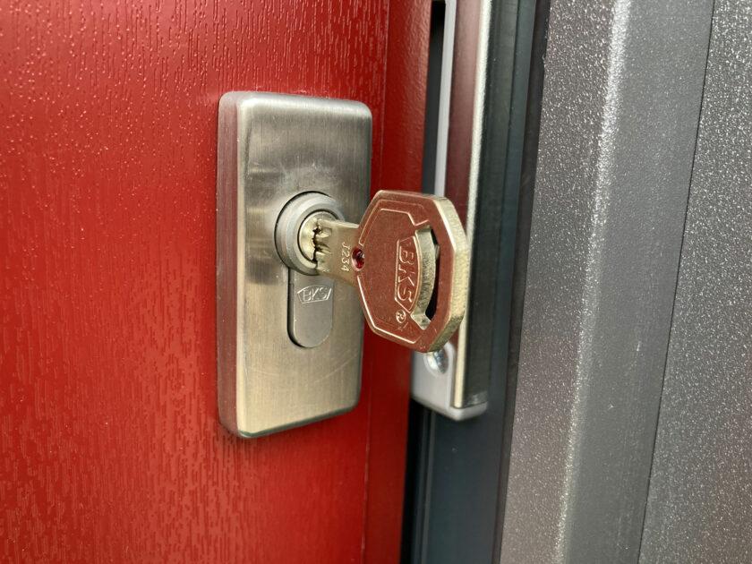 Neuer Schlüssel von BKS im neuen Schloss