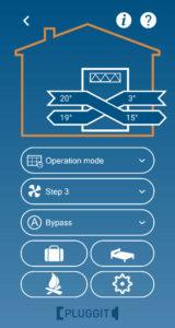 iFlow App zur Steuerung des Pluggit Avent P310